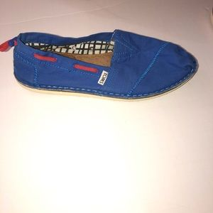 women Toms blue bimini stitchout boat shoes  9